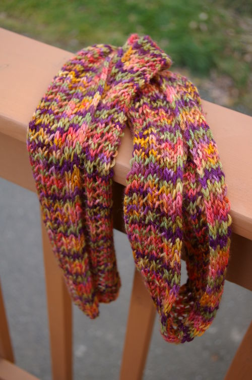 Easy Ribbed Lace Scarf